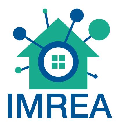 Logo Imrea: Stilisierte Grafik mit Haus