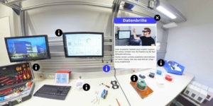 virtuelles Abbild eines Arbeitsplatzes
